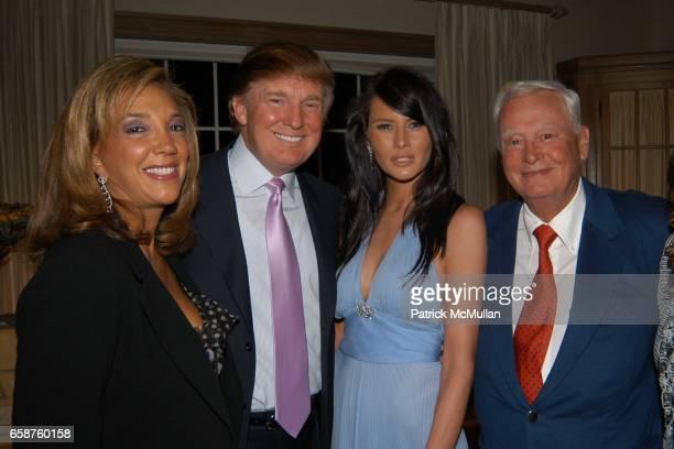 Denise Rich Donald Trump Melania Knauss Conrad Hilton and Conrad Hilton attend Kathy and Rick Hilton's party for Donald Trump and 'The Apprentice' at...