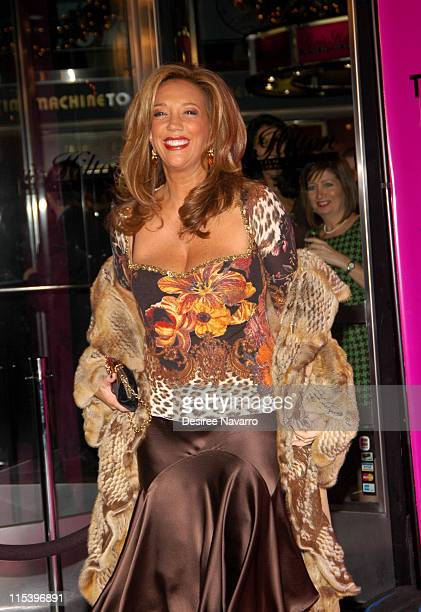 Denise Rich during Paris Hilton Launches Limited Edition Watch Line Party at Tourneau Time Machine in New York City New York United States