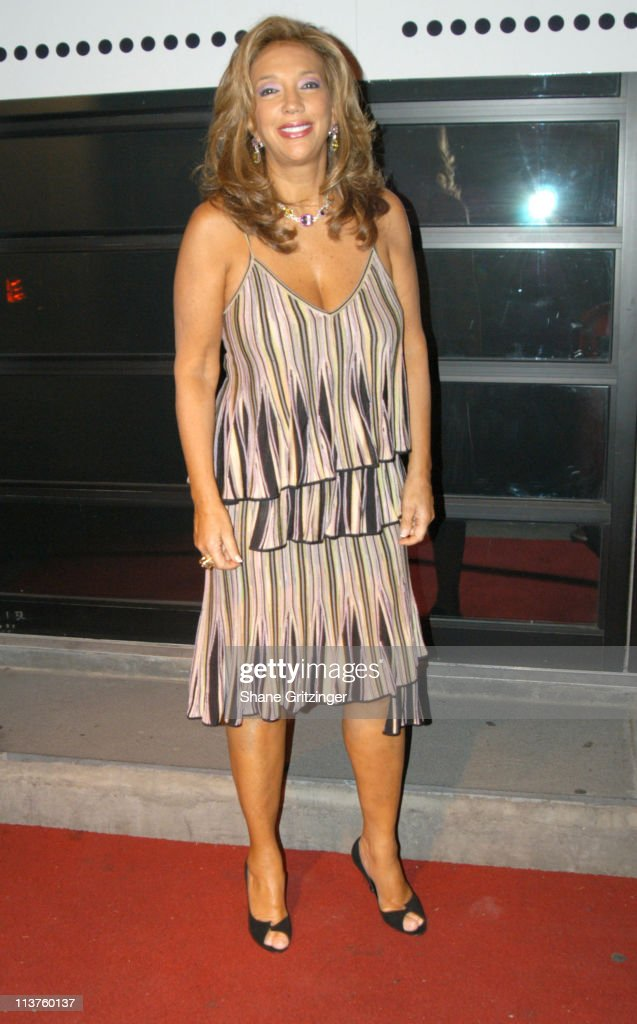 <a gi-track='captionPersonalityLinkClicked' href=/galleries/search?phrase=Denise+Rich&family=editorial&specificpeople=204678 ng-click='$event.stopPropagation()'>Denise Rich</a> during 'Welcome Back to New York, Joan Collins' Cocktail Reception Hosted by Andy Unanue at AER in New York City, New York, United States.