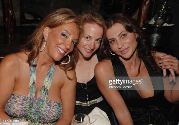 Denise Rich Michele Gallagher and Ella Krasner during Buddha Bar OneYear Anniversary at Buddha Bar in New York City New York United States