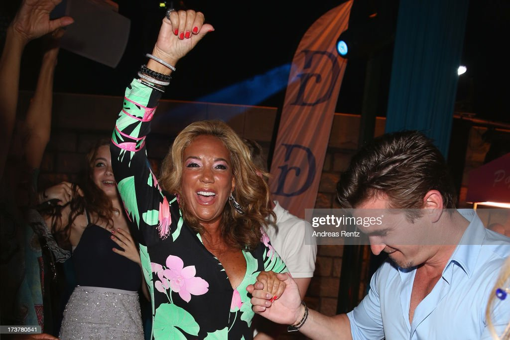 Denise Rich smiles during the Denise Rich annual St. Tropez party on July 17, 2013 in Saint-Tropez, France.