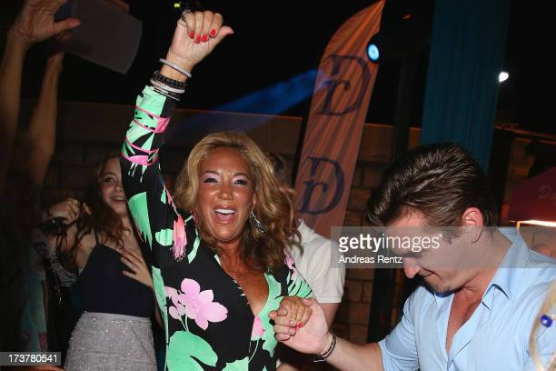 Denise Rich smiles during the Denise Rich annual St Tropez party on July 17 2013 in SaintTropez France