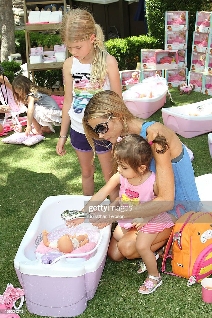 <a gi-track='captionPersonalityLinkClicked' href=/galleries/search?phrase=Denise+Richards+-+Actress&family=editorial&specificpeople=208108 ng-click='$event.stopPropagation()'>Denise Richards</a> and children attend the Corolle Adopt a Doll Event at The Grove on May 18, 2013 in Los Angeles, California.