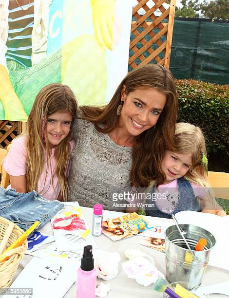 Denise Richards and daughters Sam and Lola at the 77kids By American Eagle 'Surfin' Safari' at A Time For Heroes Celebrity Carnival held at The...