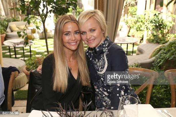 Denise Richards and Dr Barbara Sturm during the NetAPorter lunch at hotel Chateau Marmont on February 24 2017 in Los Angeles California
