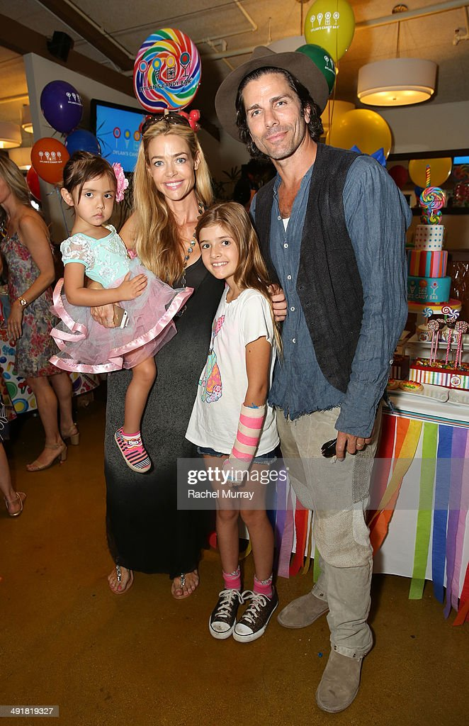 Denise Richards (L) and Greg Lauren attend Dylan's Candy Bar Candy Girl Collection LA Launch Event at Dylan's Candy Bar on May 17, 2014 in Los Angeles, California.