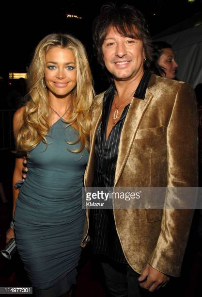Denise Richards and Richie Sambora during Conde Nast Media Group Kicks Off New York Fall Fashion Week with 3rd Annual Fashion Rocks Red Carpet at...