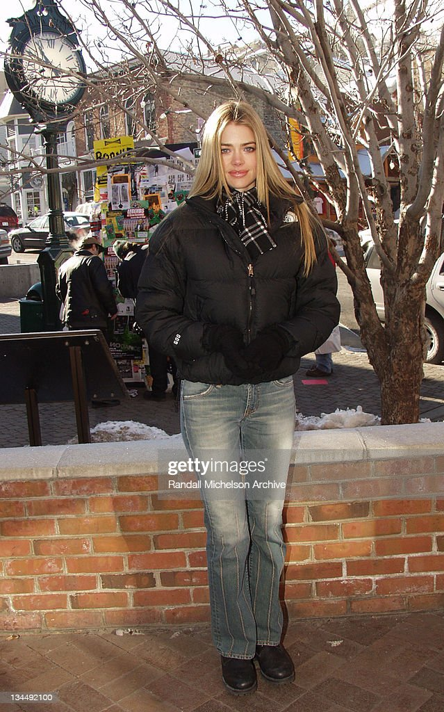 2002 Sundance Film Festival - Denise Richards Outdoor Portraits