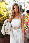 Denise Richards attends alice olivia By Stacey Bendet Hosts Look Up Yoga At The Malibu Lumberyard on May 26 2012 in Malibu California