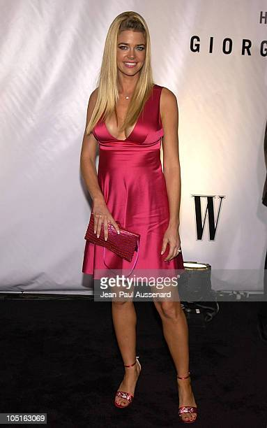 Denise Richards during Giorgio Armani Receives First 'Rodeo Drive Walk Of Style' Award at Rodeo Drive in Beverly Hills California United States