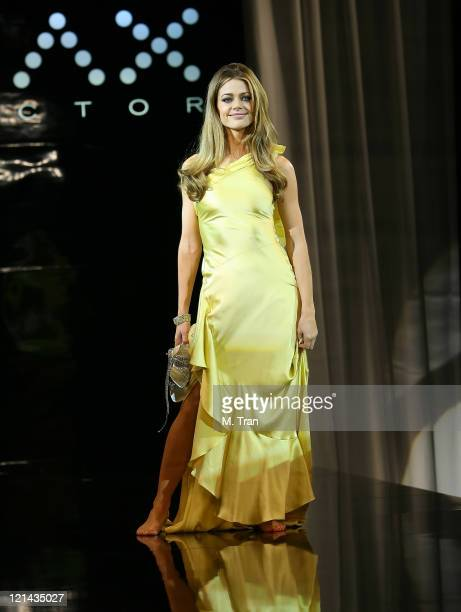 Denise Richards during Max Factor Salutes Hollywood Fashion Show at Social Hollywood in Los Angeles CA United States
