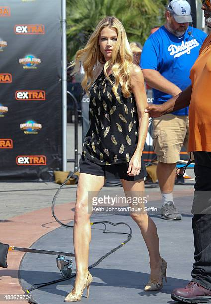 Denise Richards is seen at 'Extra' on August 11 2015 in Los Angeles California