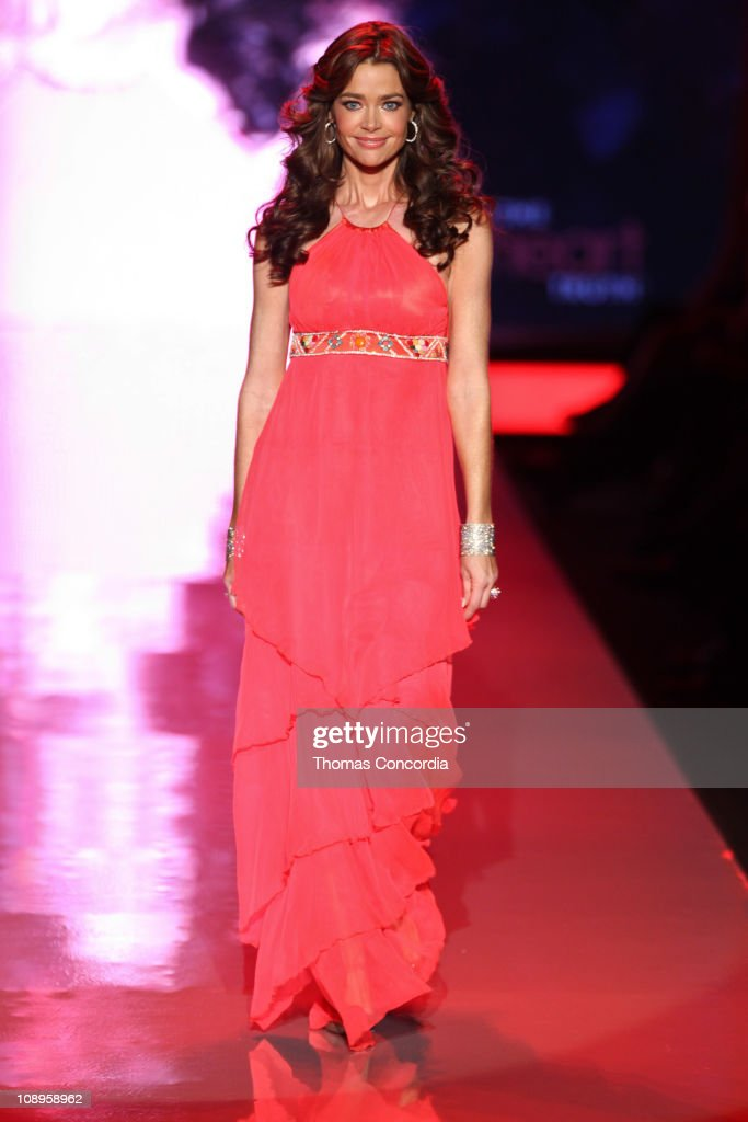 Denise Richards wearing Matthew Williamson at the The Heart Truth's Red Dress Collection fashion show during Mercedes-Benz Fashion Week Fall 2011 at Lincoln Center on February 9, 2011 in New York City.