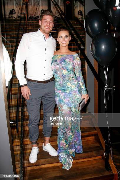 Denise Temlitz former candidate of the TV show 'Der Bachelor' and her boyfriend Pascal Cappes attend the 'Nights of The Nights' event at Amano Grand...