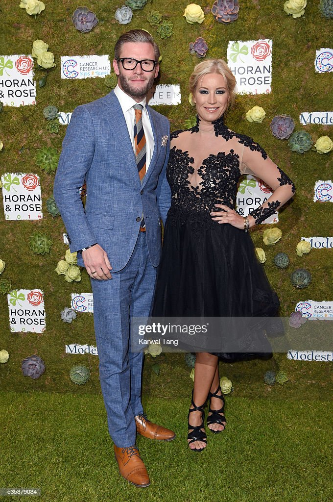 Denise van Outen and Eddie Boxshall arrive for The Horan And Rose event at The Grove on May 29, 2016 in Watford, England.