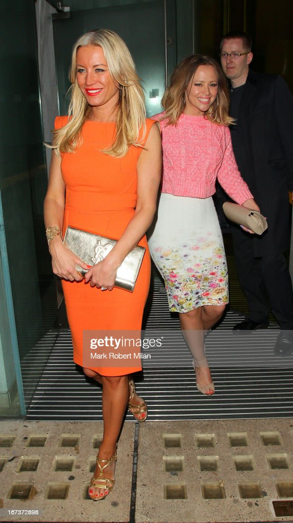 Denise van Outen and Kimberley Walsh at the St Martins Lane hotel on April 24, 2013 in London, England.