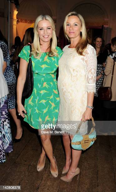 Denise van Outen and Tamzin Outhwaite attend a party celebrating the launch of Twiggy For MS Women at Home House on April 12 2012 in London England