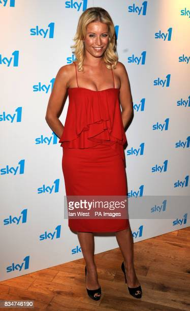 Denise Van Outen arrives at the launch of Sky One's new look and Autumn line up at Shoreditch Town Hall in London