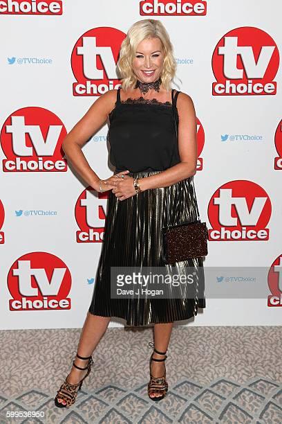 Denise Van Outen arrives for the TVChoice Awards at The Dorchester on September 5 2016 in London England