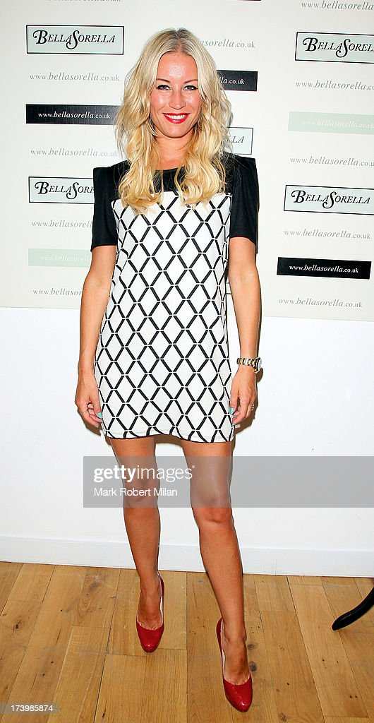 Denise van Outen attending the Lydia Bright x FASHTAG pop-up tour launch on July 18, 2013 in London, England.