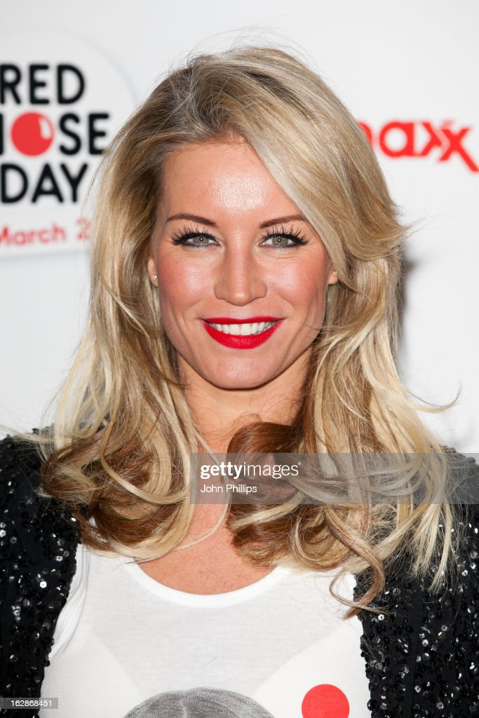 <a gi-track='captionPersonalityLinkClicked' href=/galleries/search?phrase=Denise+Van+Outen&family=editorial&specificpeople=202834 ng-click='$event.stopPropagation()'>Denise Van Outen</a> attends a fundraising cocktail party hosted by TK Maxx in aid of Comic Relief's Red Nose Day at The Royal Opera House on February 28, 2013 in London, England.