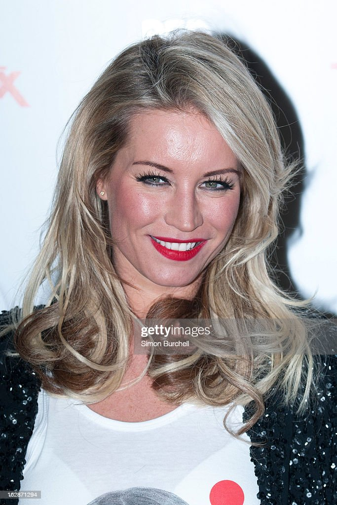 Denise Van Outen attends a fundraising cocktail party hosted by TK Maxx in aid of Comic Relief's Red Nose Day at The Royal Opera House on February 28, 2013 in London, England.
