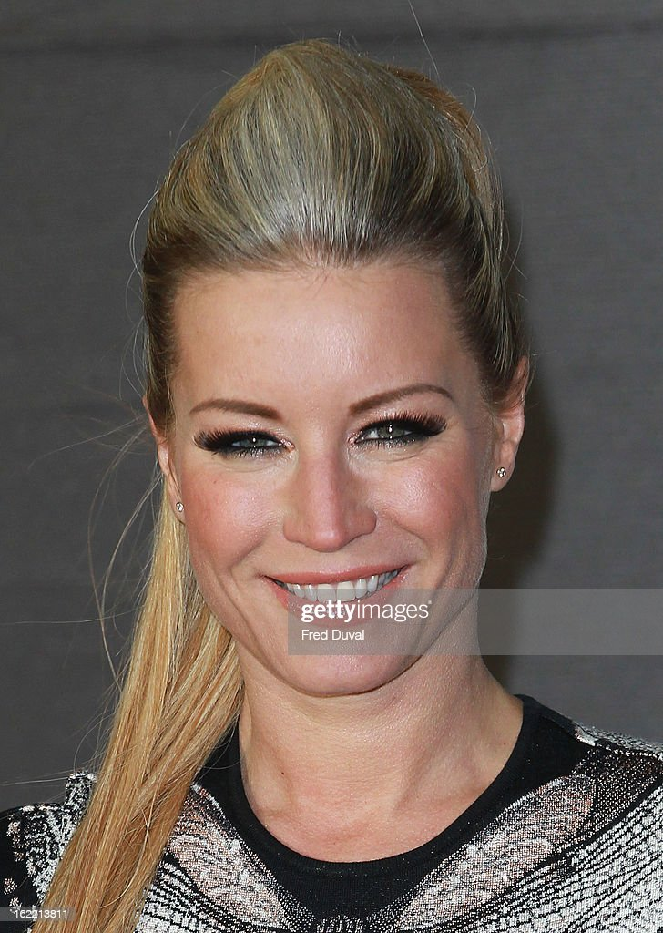 Denise Van Outen attends the Brit Awards at 02 Arena on February 20, 2013 in London, England.