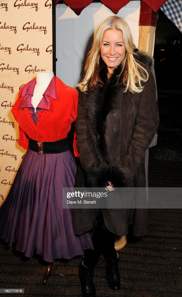 Denise van Outen attends the Galaxy Pop Up Drive-In Cinema at the Doon Street Car Park on February 26, 2013 in London, England.
