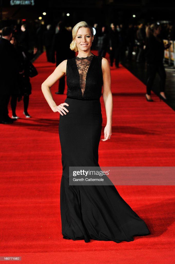 Denise van Outen attends the UK Premiere of 'Run For Your Wife' at Odeon Leicester Square on February 5, 2013 in London, England.
