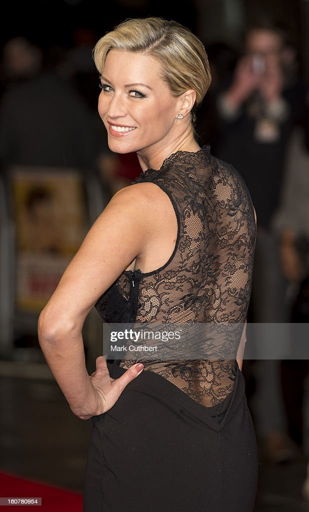 Denise van Outen attends the UK premiere of 'Run For Your Wife' at Odeon Leicester Square on February 5 2013 in London England