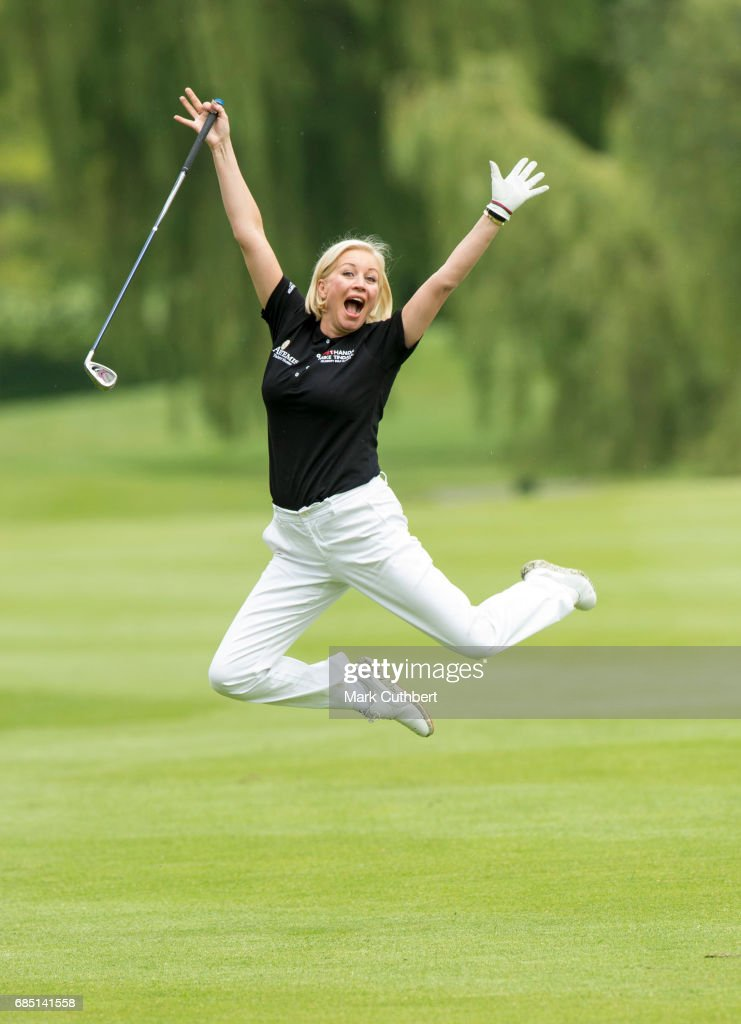 Denise Van Outen during the Mike Tindall Celebrity Golf Classic at The Belfry on May 19, 2017 in Sutton Coldfield, England.