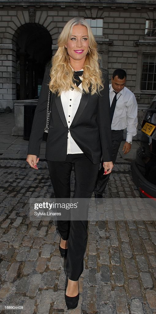 Denise Van Outen leaving Somerset House on May 16, 2013 in London, England.