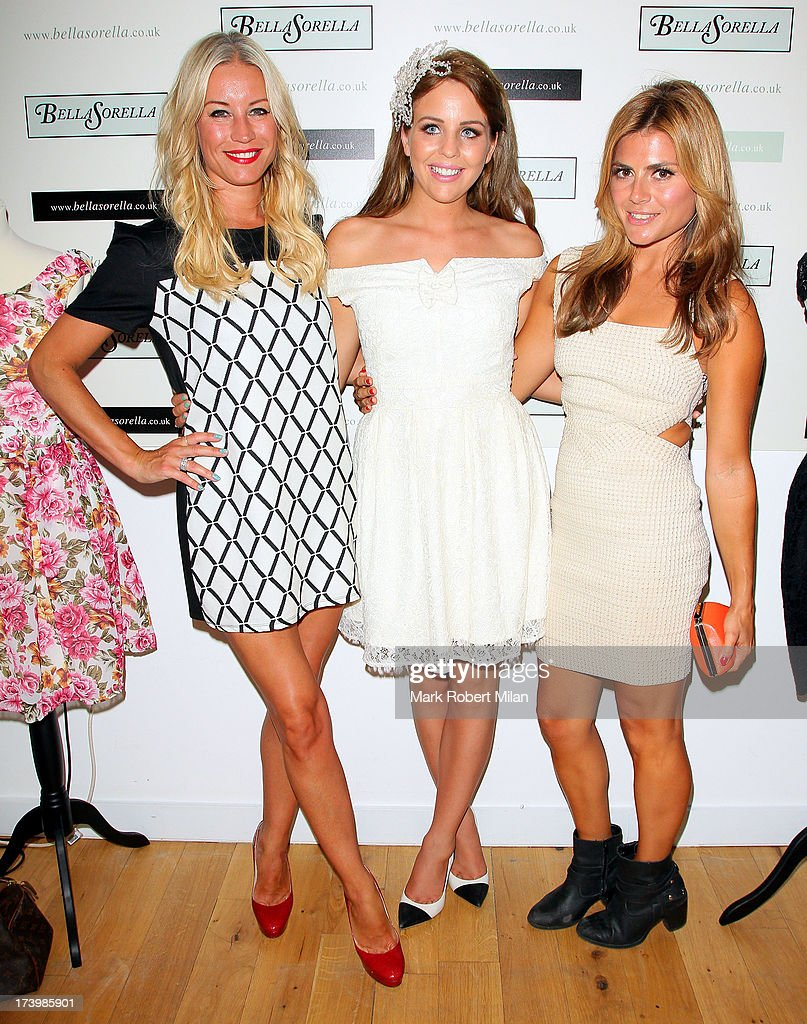 Denise van Outen, Lydia Bright and <a gi-track='captionPersonalityLinkClicked' href=/galleries/search?phrase=Zoe+Hardman&family=editorial&specificpeople=2278465 ng-click='$event.stopPropagation()'>Zoe Hardman</a> attending the Lydia Bright x FASHTAG pop-up tour launch on July 18, 2013 in London, England.