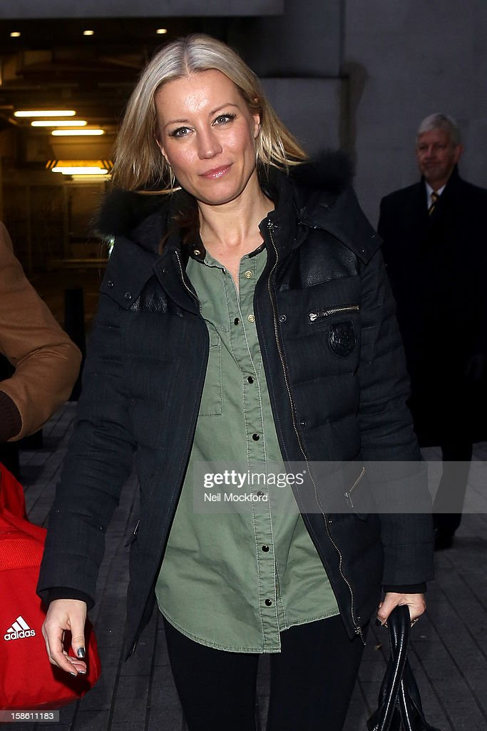 Denise Van Outen seen at BBC Radio 1 ahead of the Strictly Come Dancing Final on December 21, 2012 in London, England.
