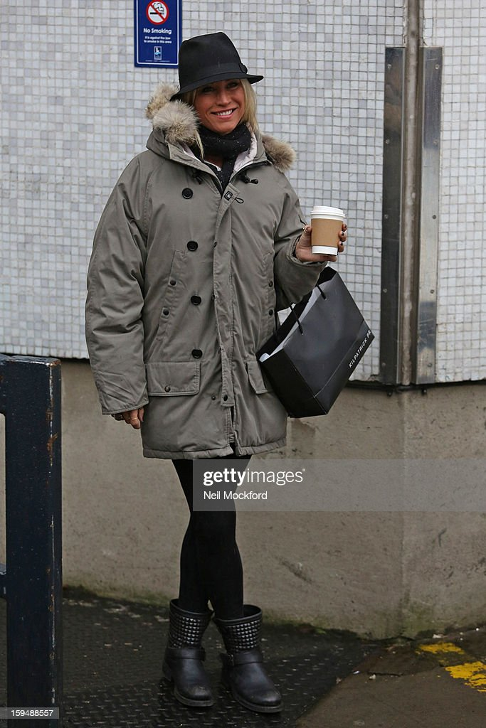 <a gi-track='captionPersonalityLinkClicked' href=/galleries/search?phrase=Denise+Van+Outen&family=editorial&specificpeople=202834 ng-click='$event.stopPropagation()'>Denise Van Outen</a> seen leaving Loose Women at the ITV Studios on January 14, 2013 in London, England.