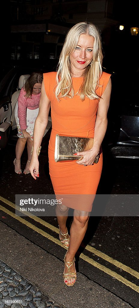 Denise van Outen sighting at the St Martins Lane hotel on April 24, 2013 in London, England.