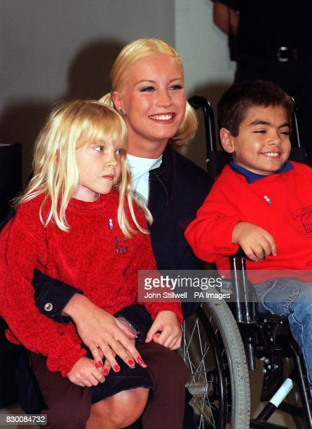 Denise Van Outen was at Top Shop in Oxford Circus London today to sign customer's jeans for Great Ormond Street Hospital Children's Charity Jeans for...