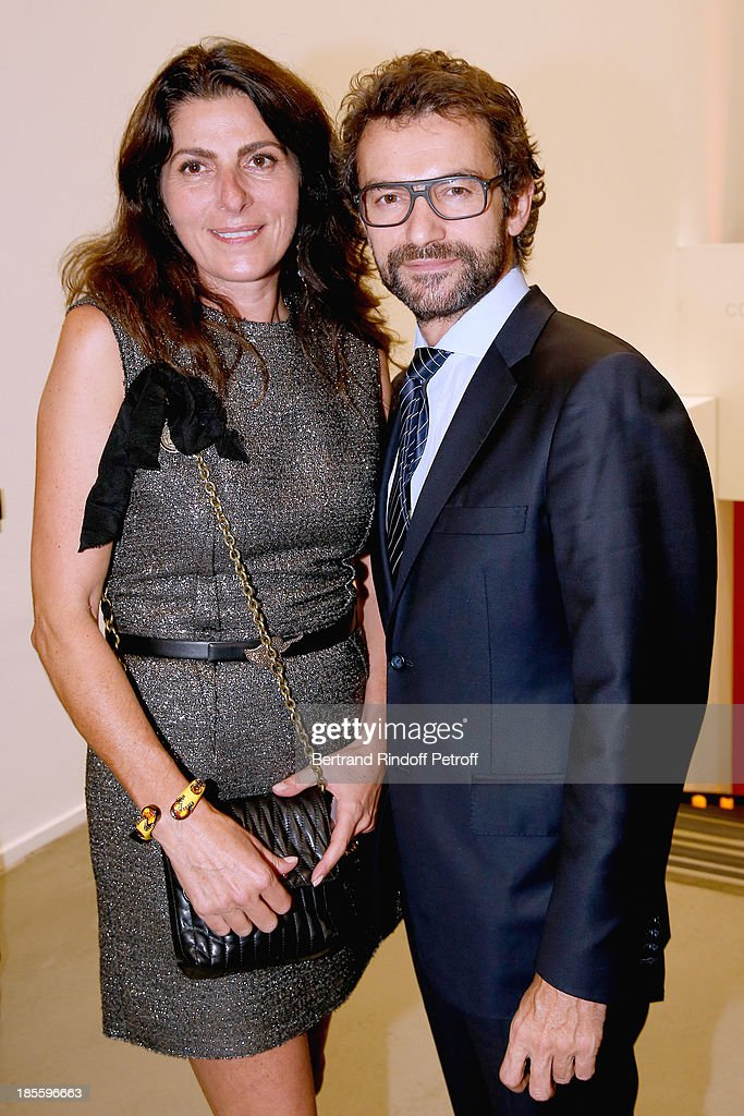 Denise Vilgrain and Architect Cyril Vergnolle attend the the dinner of the friends of the 'Musee d'Art Moderne de la ville de Paris' on October 22, 2013 in Paris, France.