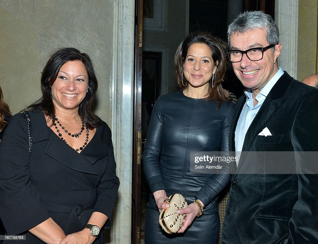 Denise Warren and Giorgio Guidotti attend Deborah Needleman's New York Times inaugural issue party during Milan Fashion Week Womenswear Fall/Winter 2013/14 on February 23, 2013 in Milan, Italy.