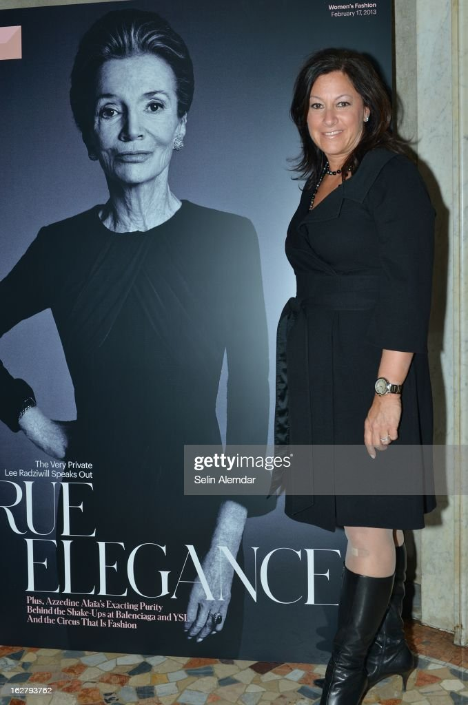 Denise Warren attends Deborah Needleman's New York Times inaugural issue party during Milan Fashion Week Womenswear Fall/Winter 2013/14 on February 23, 2013 in Milan, Italy.