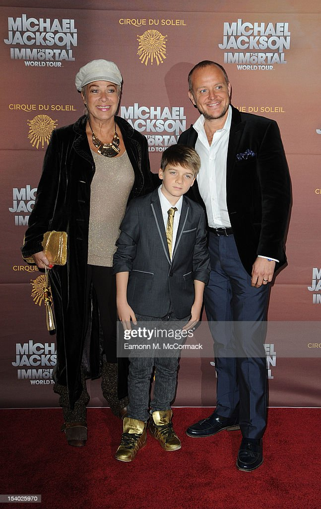 <a gi-track='captionPersonalityLinkClicked' href=/galleries/search?phrase=Denise+Welch&family=editorial&specificpeople=714747 ng-click='$event.stopPropagation()'>Denise Welch</a> and Lincoln Townley attend the opening night of Cirque Du Soleil's 'Michael Jackson The Immortal World Tour' at 02 Arena on October 12, 2012 in London, England.
