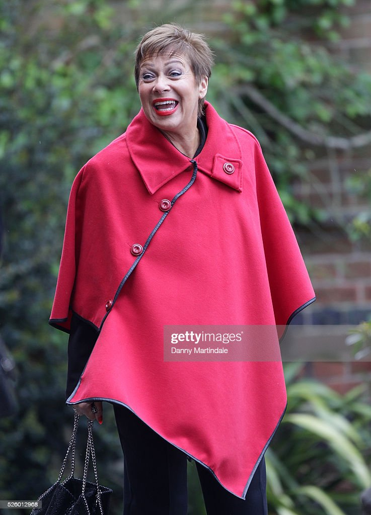 <a gi-track='captionPersonalityLinkClicked' href=/galleries/search?phrase=Denise+Welch&family=editorial&specificpeople=714747 ng-click='$event.stopPropagation()'>Denise Welch</a> attends the funeral of entertainer, producer and reality television star David Gest at Golders Green Crematorium on April 29, 2016 in London, England.