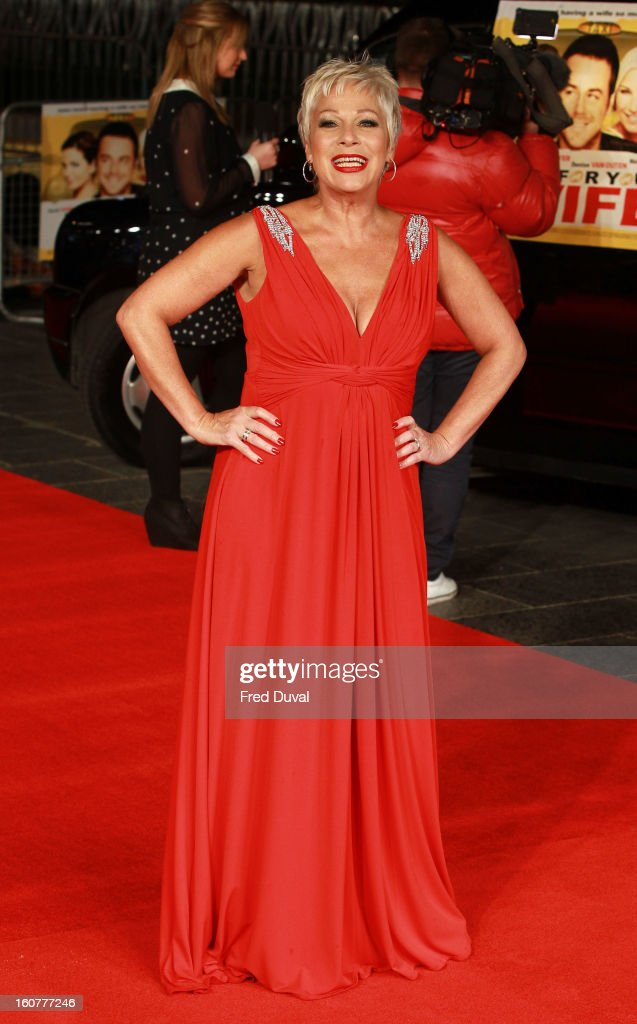 Denise Welch attends the premiere of 'Run For Your Wife' at Odeon Leicester Square on February 5, 2013 in London, England.