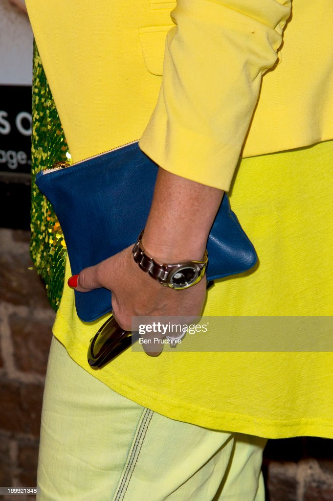 Denise Welch (bag detail) attends the press night of 'Blind Date' at Charing Cross Theatre on June 4, 2013 in London, England.