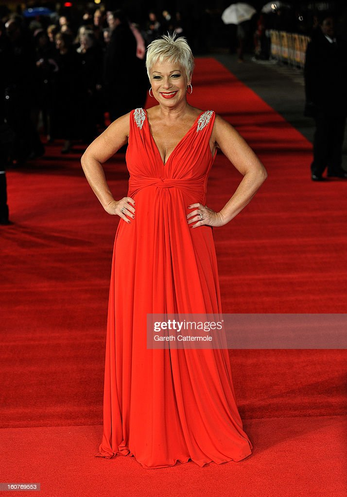 Denise Welch attends the UK Premiere of 'Run For Your Wife' at Odeon Leicester Square on February 5 2013 in London England
