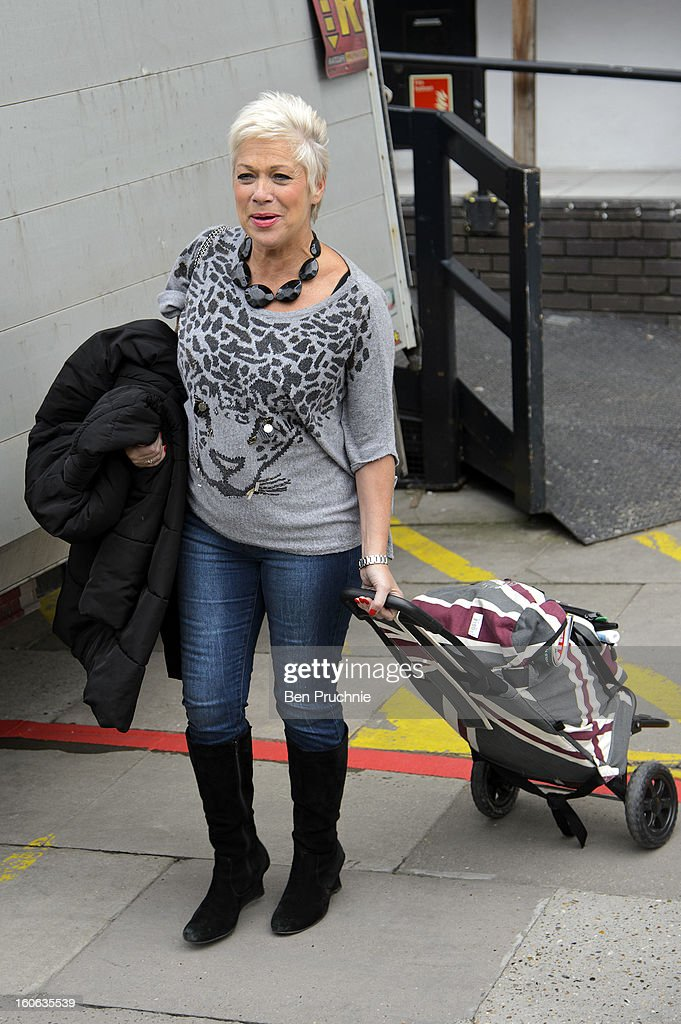 Denise Welch sighted departing ITV Studios on February 4, 2013 in London, England.