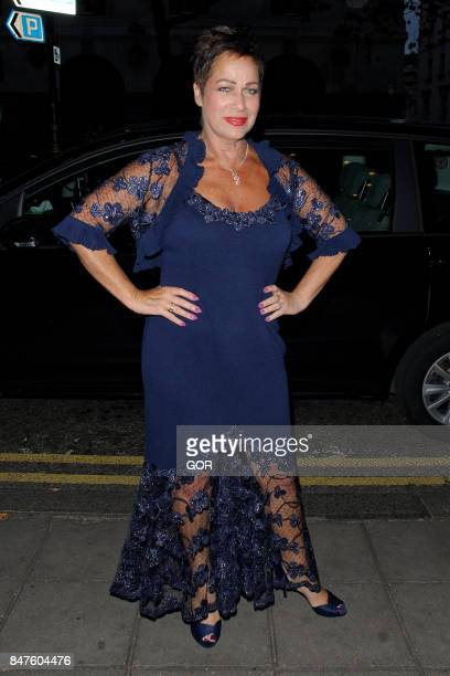 Denise Welch sighting at the Waldorf hotel on September 15 2017 in London England