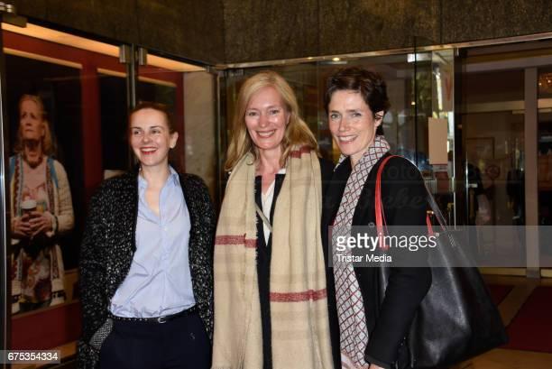Denise Zich Katja Weitzenboeck and Julia Bremermann attend the 'Wir sind die Neuen' Premiere at Kudamm on April 30 2017 in Berlin Germany