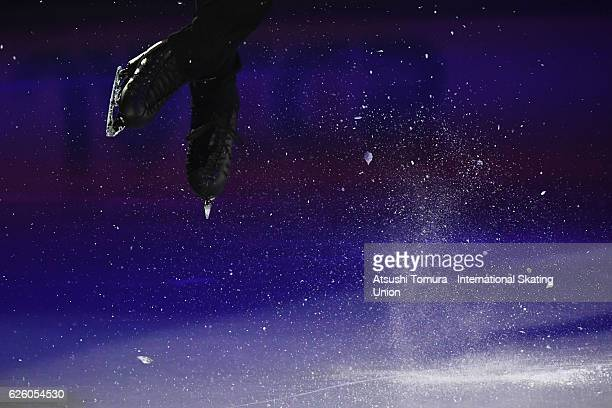 Deniss Vasiljevs of Latvia performs in the gala exhibition during the ISU Grand Prix of Figure Skating NHK Trophy on November 27 2016 in Sapporo Japan