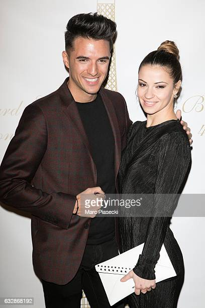 Denitsa Ikonomova and Ludovic Baron attend 'The Best Award Gala 40th Edition' at Four Seasons George V hotel on January 27 2017 in Paris France